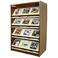 Atlantis™ Wood & Steel Double-Face Magazine Shelving - 60H x 24D Starter