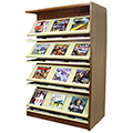 Atlantis™ Wood & Steel Double-Face Magazine Shelving - 60H x 24D Adder