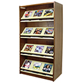 Atlantis™ Wood & Steel Double-Face Magazine Shelving - 72H x 24D Starter