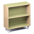 Russwood® Envision Wood Library Shelving - 36H, Single-Face, 1 Bay
