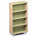 Russwood® Envision Wood Library Shelving - 60H, Single-Face, 1 Bay