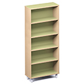 Russwood® Envision Wood Library Shelving - 72H, Single-Face, 1 Bay