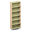Russwood® Envision Wood Library Shelving - 82H, Single-Face, 1 Bay