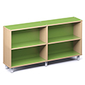 Russwood® Envision Wood Library Shelving - 36H, Single-Face, 2 Bay