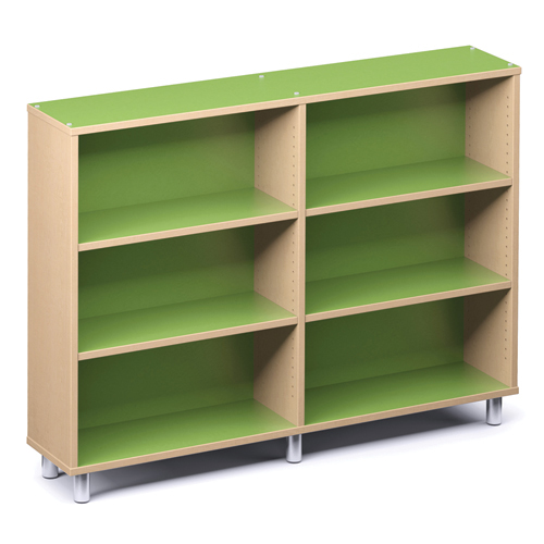 """Russwood® Envision Wood Library Shelving - 60""""H, Single-Face, 2 Bay"""