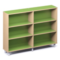 Russwood® Envision Wood Library Shelving - 60H, Single-Face, 2 Bay