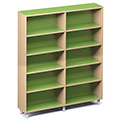 Russwood® Envision Wood Library Shelving - 72H, Single-Face, 2 Bay