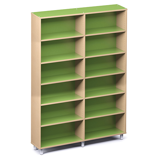 """Russwood® Envision Wood Library Shelving - 82""""H, Single-Face, 2 Bay"""