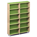Russwood® Envision Wood Library Shelving - 82H, Single-Face, 2 Bay