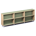 Russwood® Envision Wood Library Shelving - 36H, Single-Face, 3 Bay