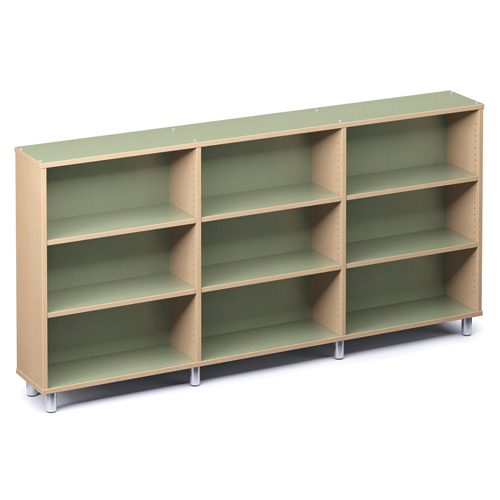 """Russwood® Envision Wood Library Shelving - 42""""H, Single-Face, 3 Bay"""
