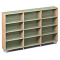 Russwood® Envision Wood Library Shelving - 60H, Single-Face, 3 Bay