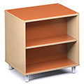 Russwood® Envision Wood Library Shelving - 36H, Double-Face, 1 Bay