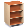 Russwood® Envision Wood Library Shelving - 42H, Double-Face, 1 Bay