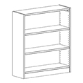 Russwood® Inspire Wood Library Shelving - 42H x 12D Single-Face Starter