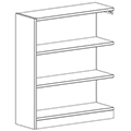 Russwood® Inspire Wood Library Shelving - 42H x 12D Single-Face Adder