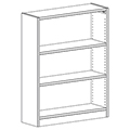 Russwood® Inspire Wood Library Shelving - 48H x 12D Single-Face Starter