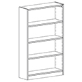 Russwood® Inspire Wood Library Shelving - 60H x 12D Single-Face Starter