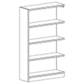 Russwood® Inspire Wood Library Shelving - 60H x 12D Single-Face Adder