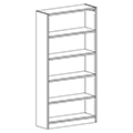 Russwood® Inspire Wood Library Shelving - 72H x 12D Single-Face Starter