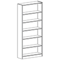 Russwood® Inspire Wood Library Shelving - 82H x 12D Single-Face Starter
