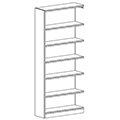 Russwood® Inspire Wood Library Shelving - 82H x 12D Single-Face Adder