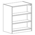 Russwood® Inspire Wood Library Shelving - 42H x 24D Double-Face Starter