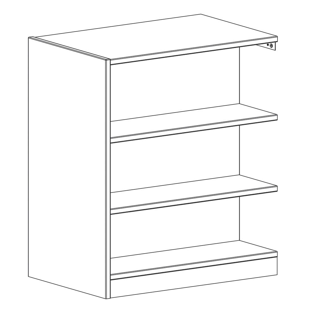 "Russwood® Inspire Wood Library Shelving - 42""H x 24""D Double-Face Adder"