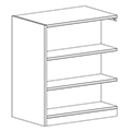 Russwood® Inspire Wood Library Shelving - 42H x 24D Double-Face Adder