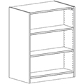 Russwood® Inspire Wood Library Shelving - 48H x 24D Double-Face Starter