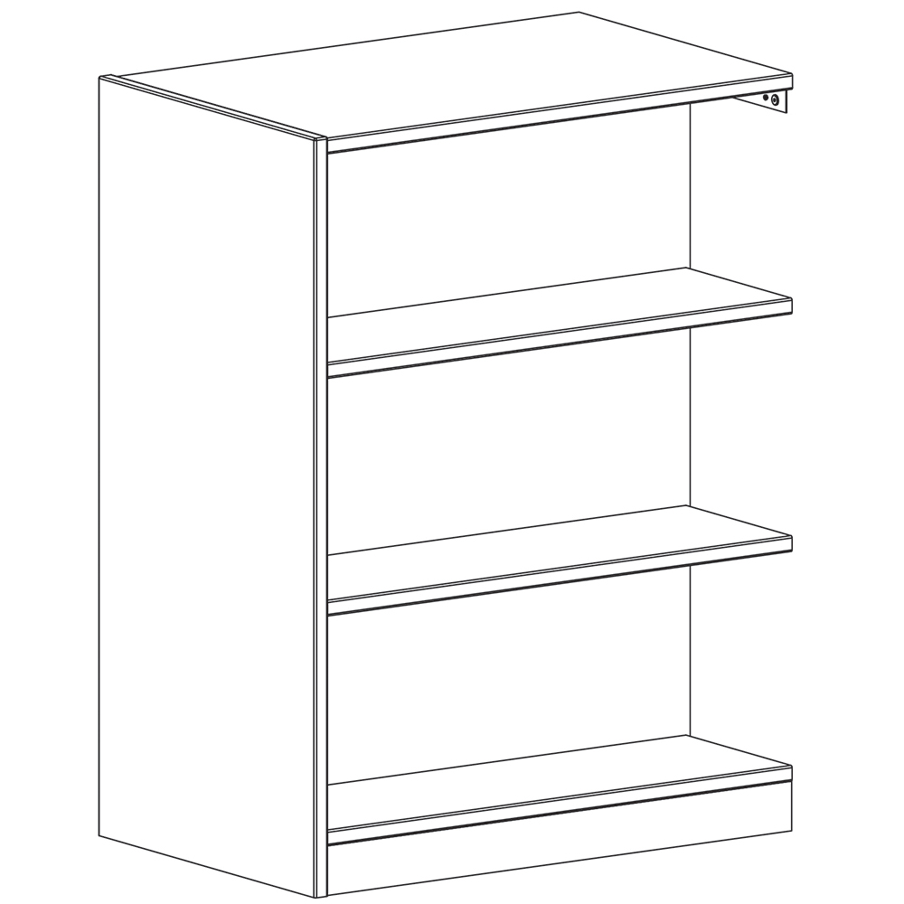 """Russwood® Inspire Wood Library Shelving - 48""""H x 24""""D Double-Face Adder"""