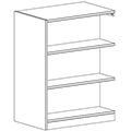 Russwood® Inspire Wood Library Shelving - 48H x 24D Double-Face Adder