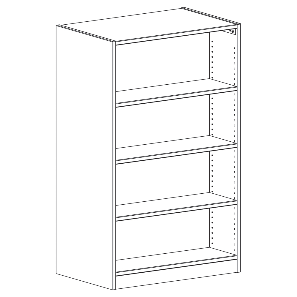 """Russwood® Inspire Wood Library Shelving - 60""""H x 24""""D Double-Face Starter"""