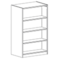 Russwood® Inspire Wood Library Shelving - 60H x 24D Double-Face Starter