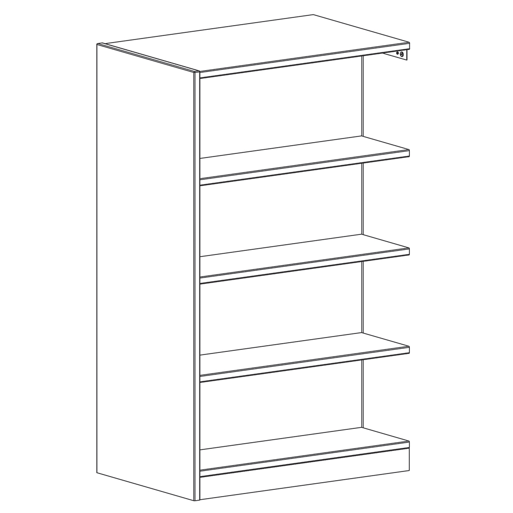 """Russwood® Inspire Wood Library Shelving - 60""""H x 24""""D Double-Face Adder"""
