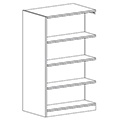 Russwood® Inspire Wood Library Shelving - 60H x 24D Double-Face Adder