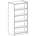 Russwood® Inspire Wood Library Shelving - 72H x 24D Double-Face Starter