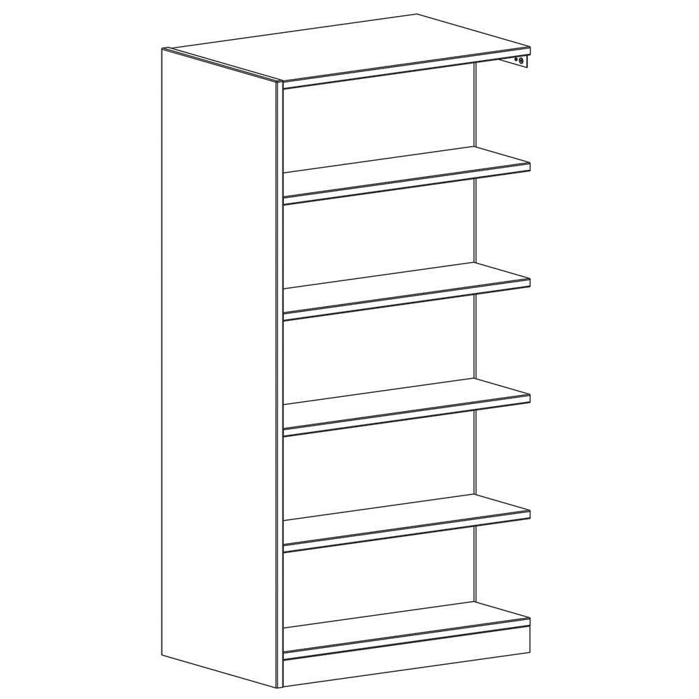 """Russwood® Inspire Wood Library Shelving - 72""""H x 24""""D Double-Face Adder"""