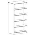 Russwood® Inspire Wood Library Shelving - 72H x 24D Double-Face Adder
