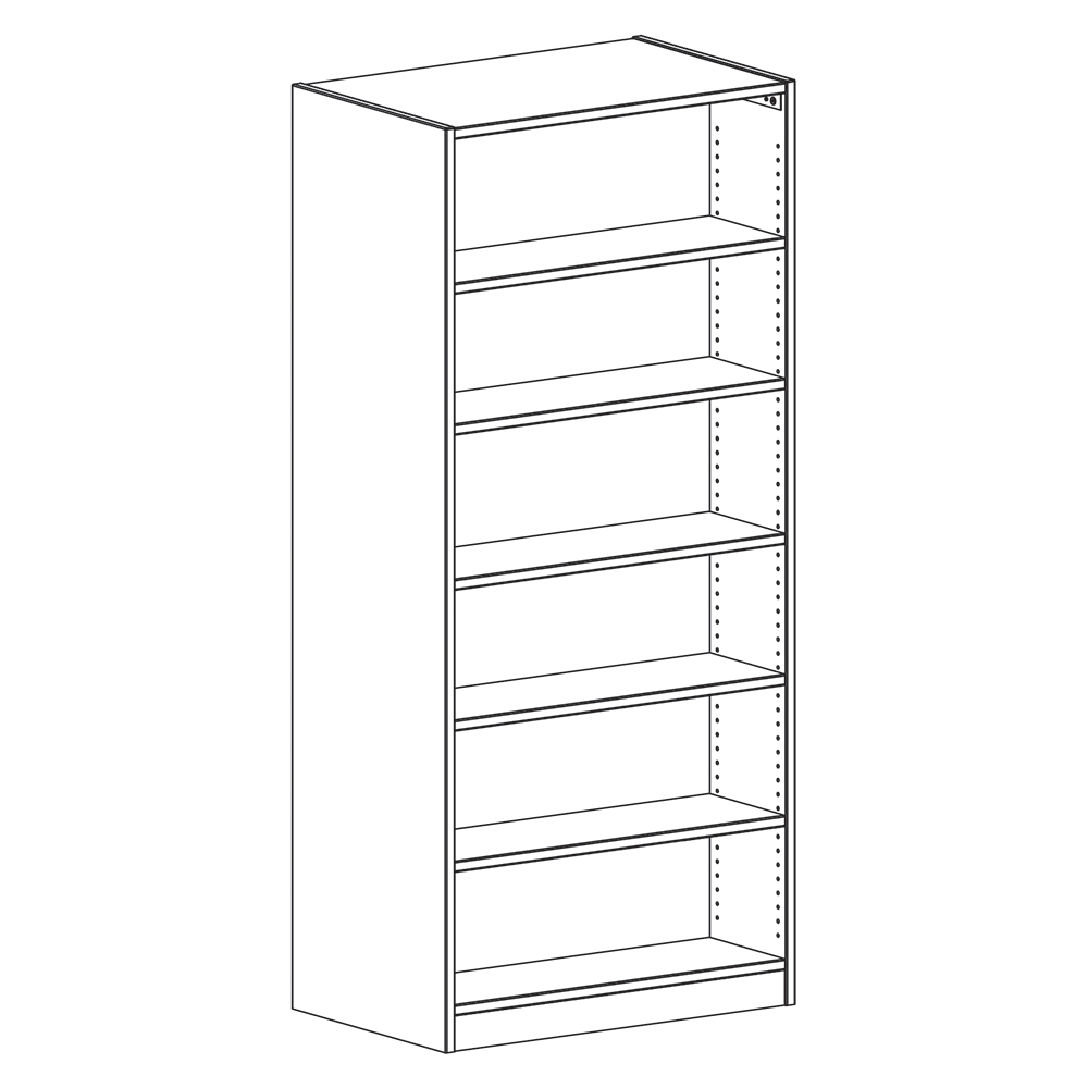 "Russwood® Inspire Wood Library Shelving - 82""H x 24""D Double-Face Starter"