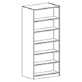 Russwood® Inspire Wood Library Shelving - 82H x 24D Double-Face Starter