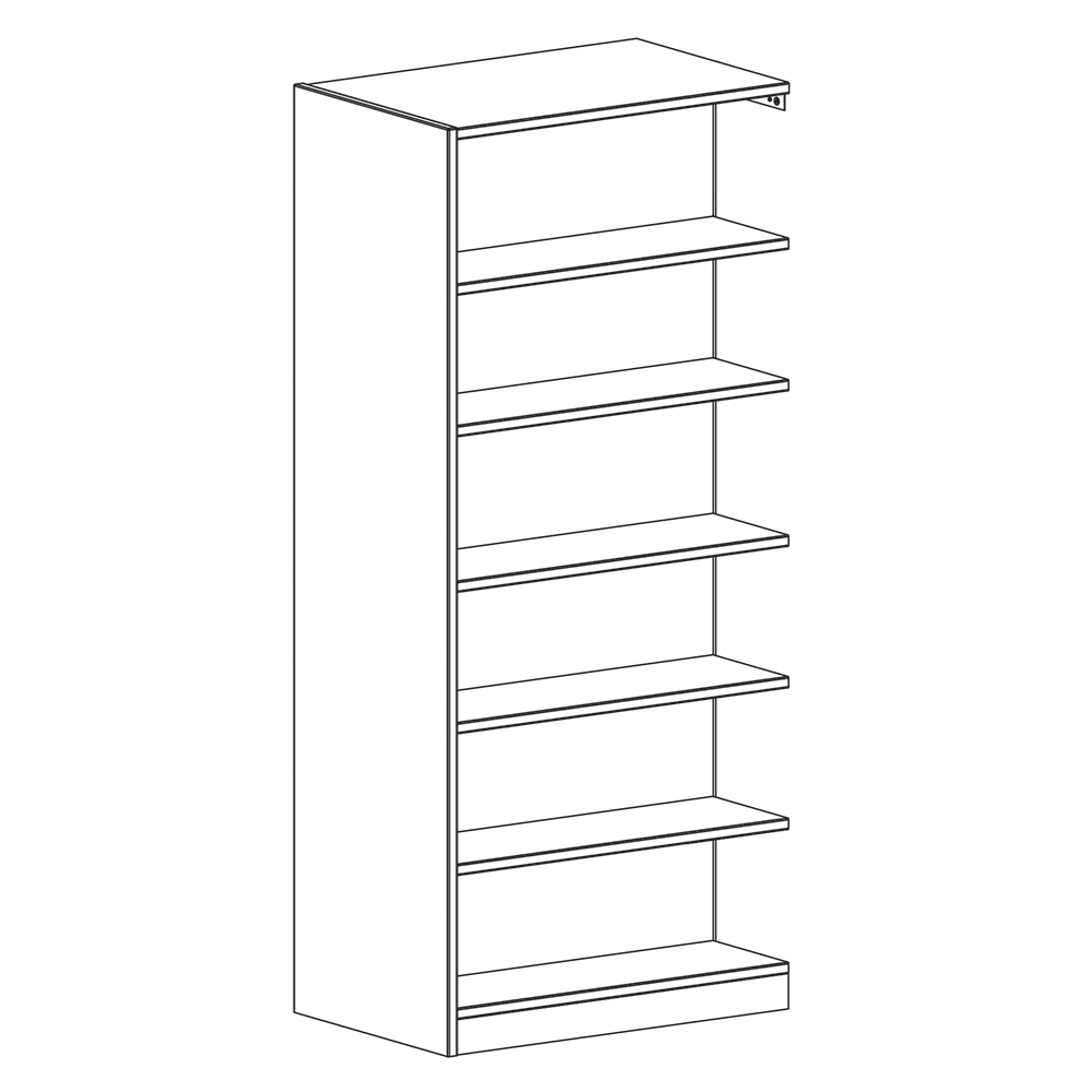 "Russwood® Inspire Wood Library Shelving - 82""H x 24""D Double-Face Adder"