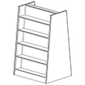 Russwood® Mobile Bookstore Shelving - 58H x 36W x 36D, Starter