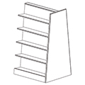 Russwood® Mobile Bookstore Shelving - 58H x 36W x 36D, Adder