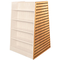 Russwood® Bookstore Shelving - Optional Slatwall End Panel
