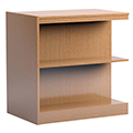 Russwood® Stately™ Wood Double-Face Mobile Library Shelving - 36H x 24D Adder