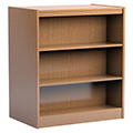 Russwood® Stately™ Wood Double-Face Mobile Library Shelving - 42H x 24D Starter