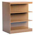 Russwood® Stately™ Wood Double-Face Mobile Library Shelving - 42H x 24D Adder