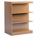 Russwood® Stately™ Wood Double-Face Mobile Library Shelving - 48H x 24D Adder