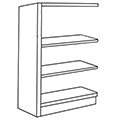 Nautilus™ Wood Library Shelving - 42H x 12D Single-Face Adder